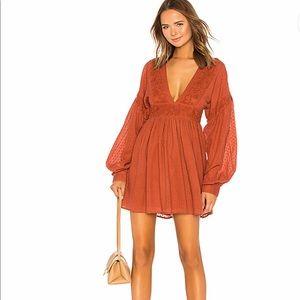 Sugarpie Mini Dress in Cinnamon Size M
